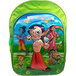 3D Chota Bheem Doraemon, Spiderman, Ben10, ben 10, minions Green Children's / kid's Backpack water proof, school bag for class / standard Pre Nursery, Nursery, KG, UKG, LKG, first 1st, second 2nd, 3rd third, 4th fourth, 5th Fifth class for boys & girls 15 Liter, 16 Inch. For children ages 4 to 11 years