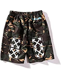 Off OW Camouflage Arrow Spring and Summer Casual Five Pants Men and Women Couple Hip Hop