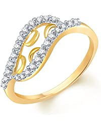 Sukkhi Glimmery Gold And Rhodium Plated CZ Studded Ring For Women