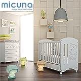 MICUNA - Pack Micuna Sweet Bear: Cuna (120 x 60 cm.) + Bañera + Nórdico + Protector blanco