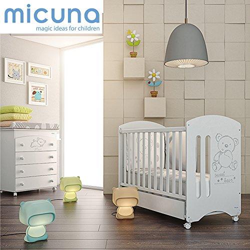 MICUNA - Pack Micuna Sweet Bear: Cuna 120 x 60 cm. + Bañera + Nórdico + Protector blanco