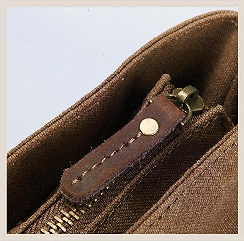DELLT-Der neue Mann Tasche lässig Umhängetasche braun Canvas Messengerbag Paket Korean Mode Armeegrün