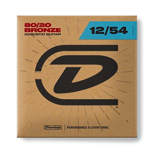 Dunlop DAB1254 Bronze 80/20 Light 12-54 Acoustic Guitar Strings