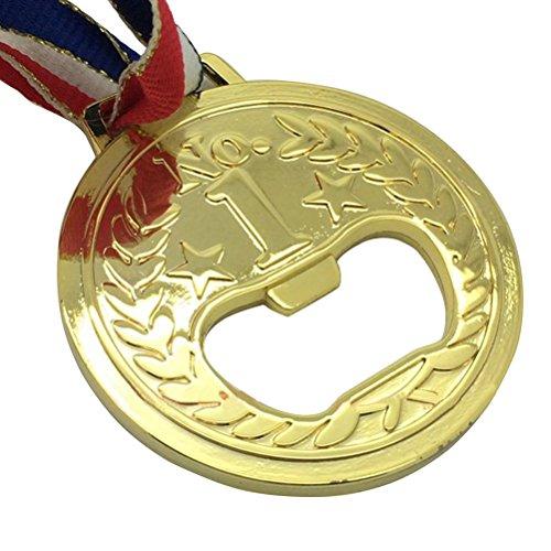 OUNONA Flaschenöffner Goldmedaille geformt Metall Wein und Bier Zubehör (Dekoration-medaille)