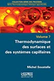 Image de Thermodynamique des surfaces et des systèmes capillaires