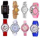 #5: Opendeal Analog Multicolor Watches For Girls Womens (Od-W257) Pack Of 8