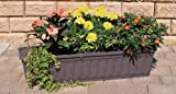 Blumenkasten 100 cm anthrazit mit Wasserspeicher MADE IN GERMANY