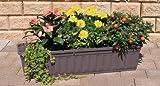 Blumenkasten 80 cm anthrazit mit Wasserspeicher MADE IN GERMANY