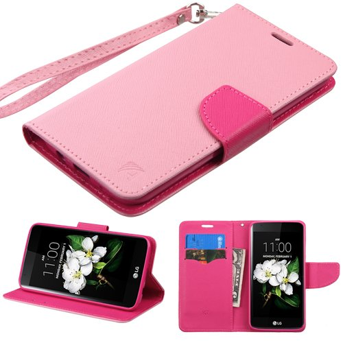 Schutzhülle für LG L52VL Treasure LTE / K373 Escape 3 / K350 K8 / LS675 Tribute 5 / MS330 K7 / K371 (Phoenix 2) Pink/Hot Pink Fishbone Case Cover