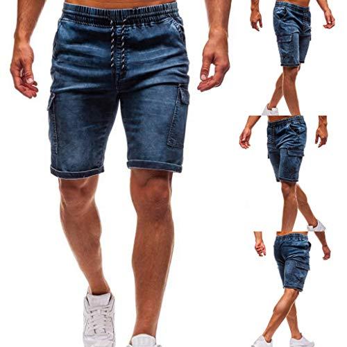 Kaister Männer Mode Jeans Shorts für lässig lose große Bermuda Strecken Kurze Hose Short-throw-arm