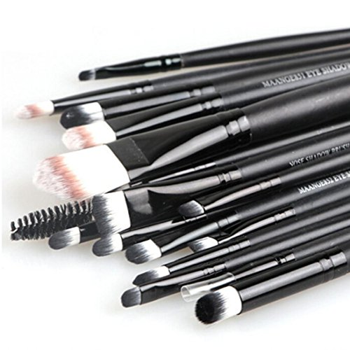 Voberry® Professionnel 20 pcs/set Pinceaux - Brosse de Maquillage / Brush Cosmétique Beauté & Make-up Manche en Bois Or (F)