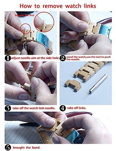 MUJUZE Herren Japanisches Analog Quarz Gehäusedurchmesser 47,5 mm Walnuß Holzuhren(Walnut) - 6