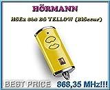 Hörmann HSE2–868-BS gelb Fernbedienung, 868,3MHz BiSecur 2-Kanal-Transmitter. Top Qualität Original Hormann Fernbedienung für die besten Preis