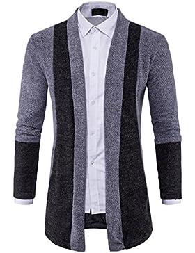 FORH Herren Modisch Herbst Strickjacke Pullover Windbreaker cool Sweatjacke Sweatshirt Slim Fit Kapuzen Strick...
