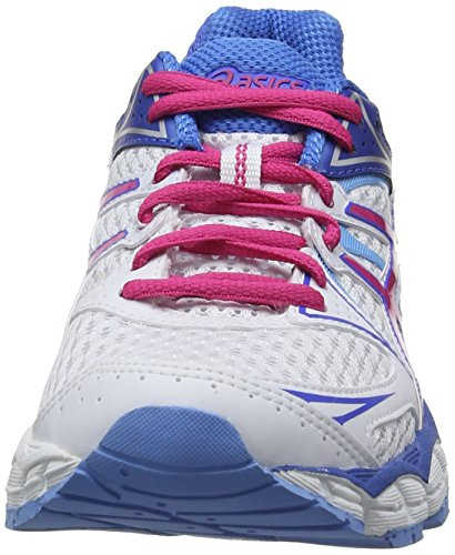 ASICS Gel-Pulse 6, Damen Laufschuhe Training Weiß (White/Hot Pink/Powder Blue 0120)