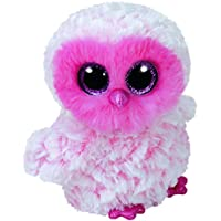 Ty Beanie Boos Twiggy, búho, Color Rosa, 40 cm (United Labels Ibérica