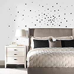 RoomMates RMK2751SCS Neutral Confetti Dots Peel and Stick Wall Decals