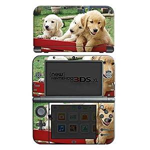 DeinDesign Skin kompatibel mit Nintendo New 3DS XL Aufkleber Sticker Folie Golden Retriever Welpen Dog