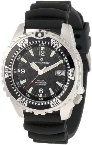 Momentum - 1M-DV06B1B - Montre Homme - Quartz Analogique - Bracelet Caoutchouc noir