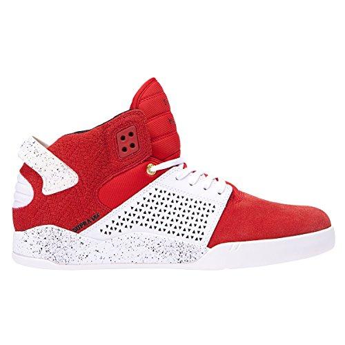 Supra Herren Sneaker Rot Red - White Speckle (Jim Greco Supra)