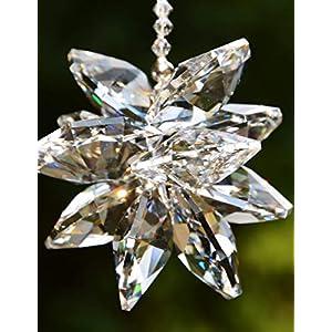 Sonnenfänger 'Crystal Star', handgearbeitet aus funkelnden Kristallen von Swarovski, Geschenk Hochzeit Einzug Jubiläum