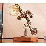 CX AMZ Retro Wasserpfeifenlampe Amerikanisches kreatives Licht Industrielle Pfeifenlampen Vintage Leuchtröhren Antikes Steampunk-Lampen Dekoration Beleuchtung Rustikale Persönlichkeit