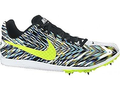 Nike Zoom Rival D 8, Chaussures de Sport Mixte Adulte, Blanco/Verde/Negro (White/Volt-Black), 47 EU