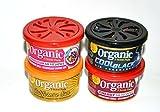 L&D Organic Scent Pad Duftdose 4-er Pack Topseller MIX 3: Bubble Gum, Cherry, Cotton Candy, Cool Black