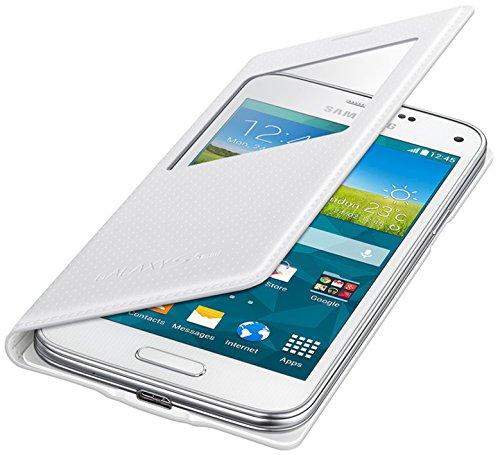 Samsung Original Galaxy S5 Mini S View Cover Punching Pattern Shimmering White EF-CG800BHEG