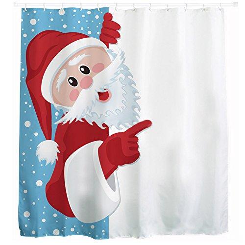 sealands Navidad Santa Claus Decoración Resistente Al Agua Baño Ducha Cortina de poliéster cortina 180x 180cm