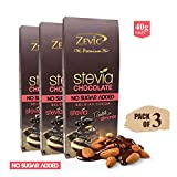 Zevic Sugarfree Roasted Almonds with Stevia, 40g (Pack of 3)