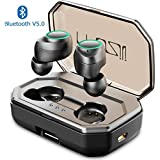 MUZILI Bluetooth Earphones, TWS X9P Wireless Sport Headphones with 3000mAh Charging Box Bluetooth V5.0 CVC8.0 Noise Reduction IPX6 Waterproof Stereo Sound Mini in-Ear Earphones with Microphone