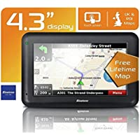 Binatone U435 4.3 Inch Sat Nav Lifetime Maps Uk & ROI - 2nd Generation