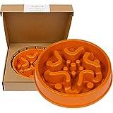 Slow Food Schüssel für Hunde Interactive Feed Schüssel - Slow Down Essen - umweltfreundliche Durable Non Toxic Bambus Fiber Dog Bowl - Entworfen von Tierärzten