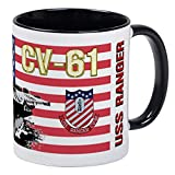 CV-61 USS Ranger Mug - Ceramic 11oz RINGER Coffee/Tea Cup Gift Stocking Stuffer...