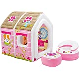 Happy GiftMart Intex 48635 Princess Play House Tent with Chair and Ottoman (Multicolour)