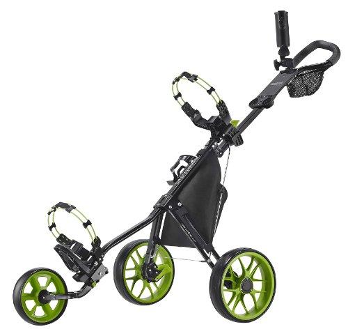 CaddyTek 11.5 V3 3-Rad Push Golftrolley Golfcaddy Golfwagen schwarz grün
