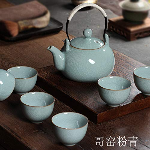 mqlerry Kaffeekanne Keramik Teekanne Celadon Teekanne,Beam Topf,Tee-Set,Krug,Hochtemperaturbeständige Teekanne,B