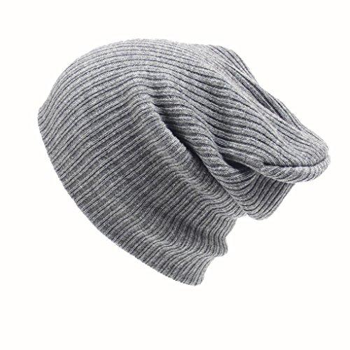 Lenfesh Bonnet Unisexe - Casquette de Ski en Tricot pour Femme - Hip-Hop Hiver Chapeau en Laine Chaude