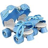 Plutofit™ Adjustable Roller Skating Shoes Front Brakes Kids Skates, Foot Size 5-9 Uk