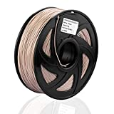 SIENOC Holz PLA Filament 1,75 mm 1kg Rolle für 3D Drucker (Holz Naturfarbe)