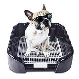 Kicat® Toilette per Cani con gabinetto Toilette per Cani con Grande Vaso Ondulato, 42 * 41 * 15 cm (Nero)
