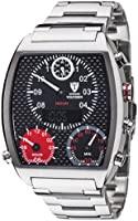 Detomaso Men's Quartz Watch VOLTURNO Silver/Black Steel Trend DT2057-C with Metal Strap