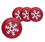 4 calentadores de bolsillo reutilizables para manos y dedos, diseño con motivos de Navidad para niños y adultos, 4x Schneeflocke