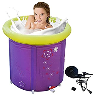 MBJZ Fold in the bath tub, and adult inflatable purple 75*75cm, purple,65x70cm
