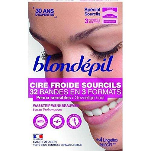BLONDEPIL 32 Bandes dépilatoires pour sourcils