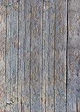 1art1 77547 Landhausstil - Grobe Holzwand, 2-Teilig Fototapete Poster-Tapete 250 x 180 cm
