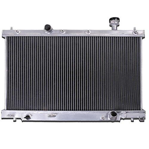 35mm High Flow Aluminium Twin Core Engine Cooling Rennen Kühler (Kühler Honda Civic 2003)
