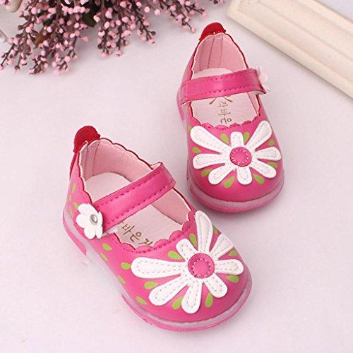 Ouneed® Fille Enfant Fleur Sandale EU 15-19 Rose vif