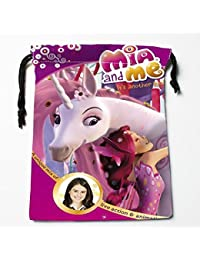 Light Green : Best Mia And Me Drawstring Bags Custom Storage Printed Receive Bag Compression Type Bags Size 18X22cm...